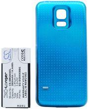 Baterie pro Samsung Galaxy S5 mini rozšířená včetně zadního krytu modrá, Li-Ion, 3800 mAh