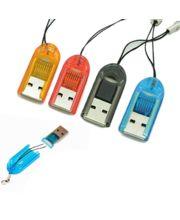 USB čítačka microSD kariet s pútkom, čierna